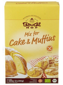 Gluten free mix for cakes and muffins, 2x200g / Bauckhof