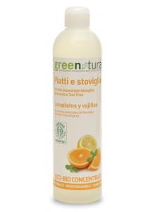 Средство для мытья посуды, апельсин, 500мл / Greenatural