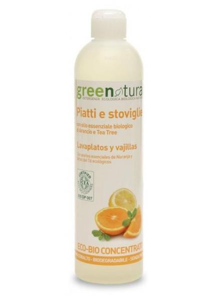 Nõudepesuvahend, 500ml, apelsin-teepuu / Greenatural