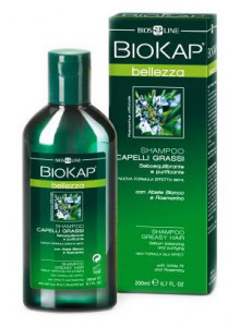 Shampoo for greasy hair, 200ml / BioKap