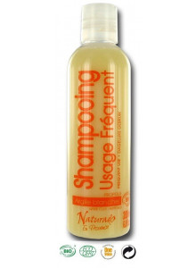 Shampoo for frequent use, 200ml, white Clay, Propolis, Orange blossom / Naturado