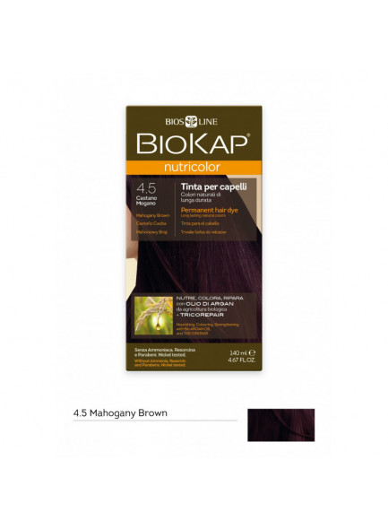 Biokap Nutricolor 4.50 / mahagoni kastan, püsivärv