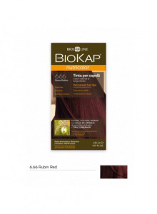 Biokap Nutricolor 6.66 / Rubiini punainen - Kestoväri