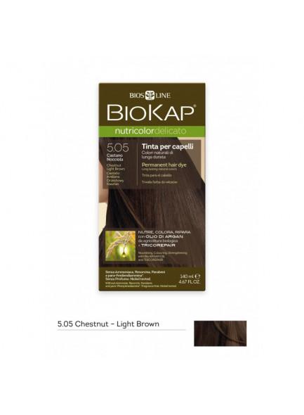 Краска для волос Biokap Nutricolor Delicato 5.05 / Chestnut Light Brown