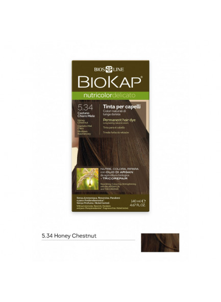 Biokap Nutricolor Delicato 5.3 / Hunajan vaalea kastanja - Kestoväri