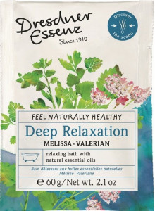 Bath essence, 60g, deep relax, lemon balm, valerian / Dresdner Essenz