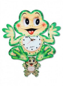 Wall Clock, with moving eyes, Frog / Bartolucci