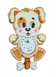 Wall Clock, with moving eyes, Dog / Bartolucci