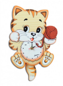 Wall Clock, Cat / Bartolucci