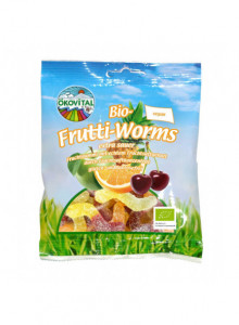 Sour fruit worms, 100g / Ökovital