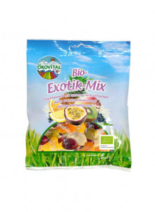 Exotic fruit gummy mix, 100g / Ökovital