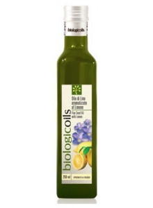 Oil, Flaxseed oil, flavoured with lemon, 250ml, cold pressed / BiologicOils