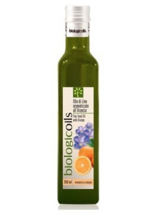 Oil, Flaxseed oil, flavoured with orange, 250ml, cold pressed / BiologicOils