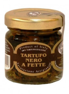 Black truffle in extra virgin olive oil, sliced, 40g / Il Tartufo di Ennio