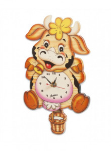 Wall clock, striped fish / Bartolucci
