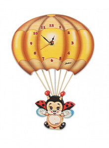 Wall clock, flying ladybird / Bartolucci