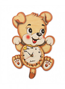 Wall clock, parachute flying ladybird / Bartolucci
