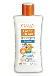 Sun lotion for children, SPF30, 200ml / Omia EcoBio