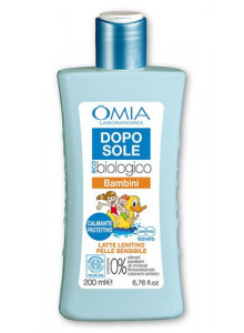 Dopo sole latte lenitivo e bambini, 200ml / Omia EcoBio