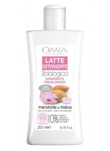 Cleansing milk with almond oil, 200ml / Omia EcoBio