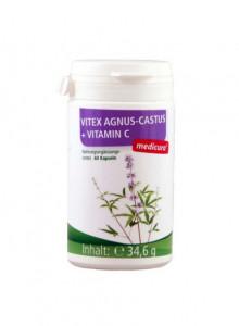 Vitex Agnus-Castus + Vitamin C, 60 capsules / Medicura