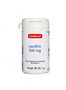Lecithin, 500mg, 50 capsules / Medicura