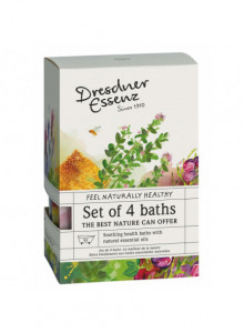 NATURALLY HEALTHY BATH SALTS GIFT SET, 4x60g / Dresdner Essenz