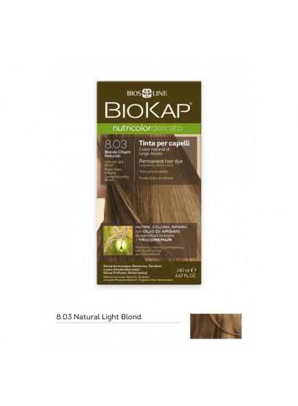 Biokap Nutricolor Delicato 8.03 / naturaalne heleblond, püsivärv