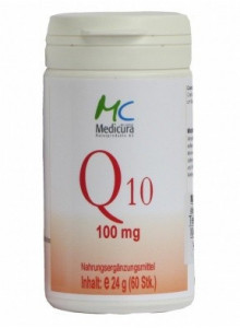 Coenzyme Q10, 100 mg, 60 capsules / Medicura