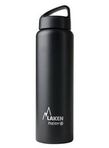 Термобутылка из нержавеющей стали, черный, 1л / Laken