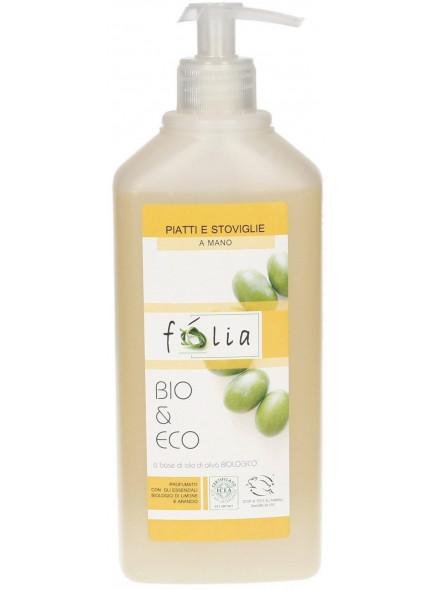 Dishwashing liquid with olive and lemon, 500ml / Folia