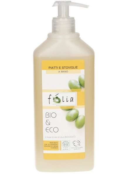 Dishwashing liquid with olive and lemon, 500ml / Folia