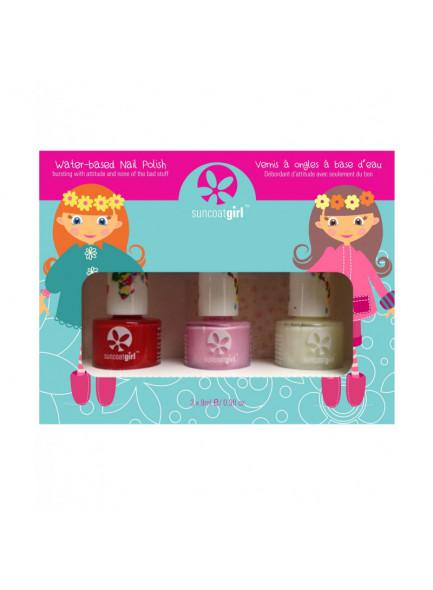 "Nail polish trio kit for kids ""Ballerina Beauty"", 3x9ml / Suncoat"
