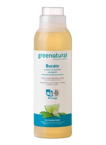 Гель для стирки белья, 1л, цитрусовые / Greenatural