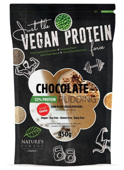 Chocolate 52% Protein Pudding with Stevia, 450g / Nutrisslim