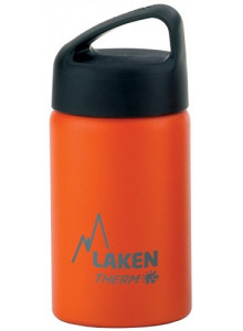 Wide mouth Stainless steel thermo bottle, orange, 350ml / Laken