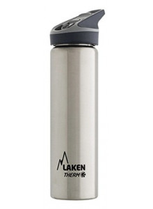 Wide mouth Stainless steel thermo bottle with sport cap, 750ml / Laken