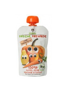 Squeezy pouch: apple, pear, carrot, pumpkin, 100g / Erdbär