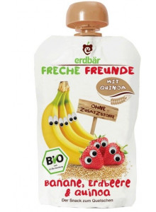 Squeezy pouch: banana, apple, raspberry, 100g / Erdbär