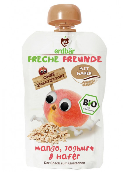 Squeezy pouch: banana, strawberry, quinoa, 100g / Erdbär