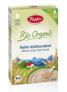 Whole grain oat cereal, 175g / Töpfer