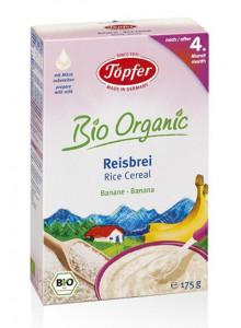 Rice cereal, banana, 175g / Töpfer