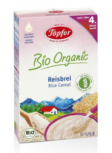 Rice cereal with whole grain rice, 175g / Töpfer
