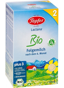 Lactana® Bio 2 – infant formula from 6 months, 600g / Töpfer