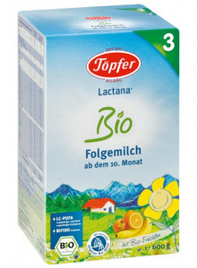 Lactana® Bio 3 – infant formula from 10 months, 600g / Töpfer