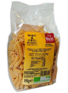 Rice pasta with  chickpea, gluten free, 350g / Bio In