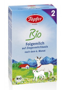 Goat milk 2 follow-on milk after 6 months, 400g / Töpfer