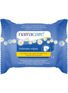 Intimate wipes, 12pcs / Natracare