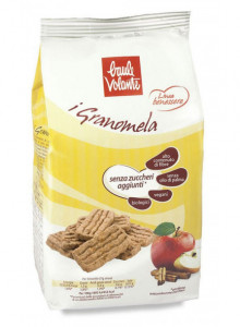 Sugar free apple-cinnamon cookies, 250g / Baule Volante