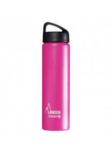 Wide mouth Stainless steel thermo bottle, pink,  750ml / Laken